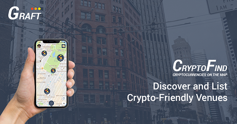 GRAFT's CryptoFind – The App That Maps All Crypto Friendly Businesses